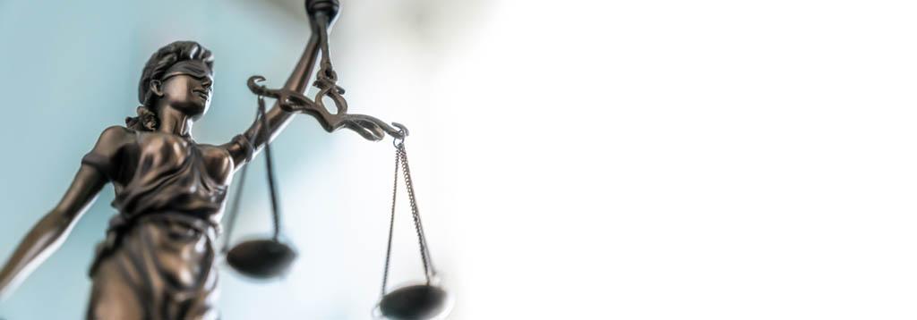 Justitia als Zeichen für Gerechtigkeit